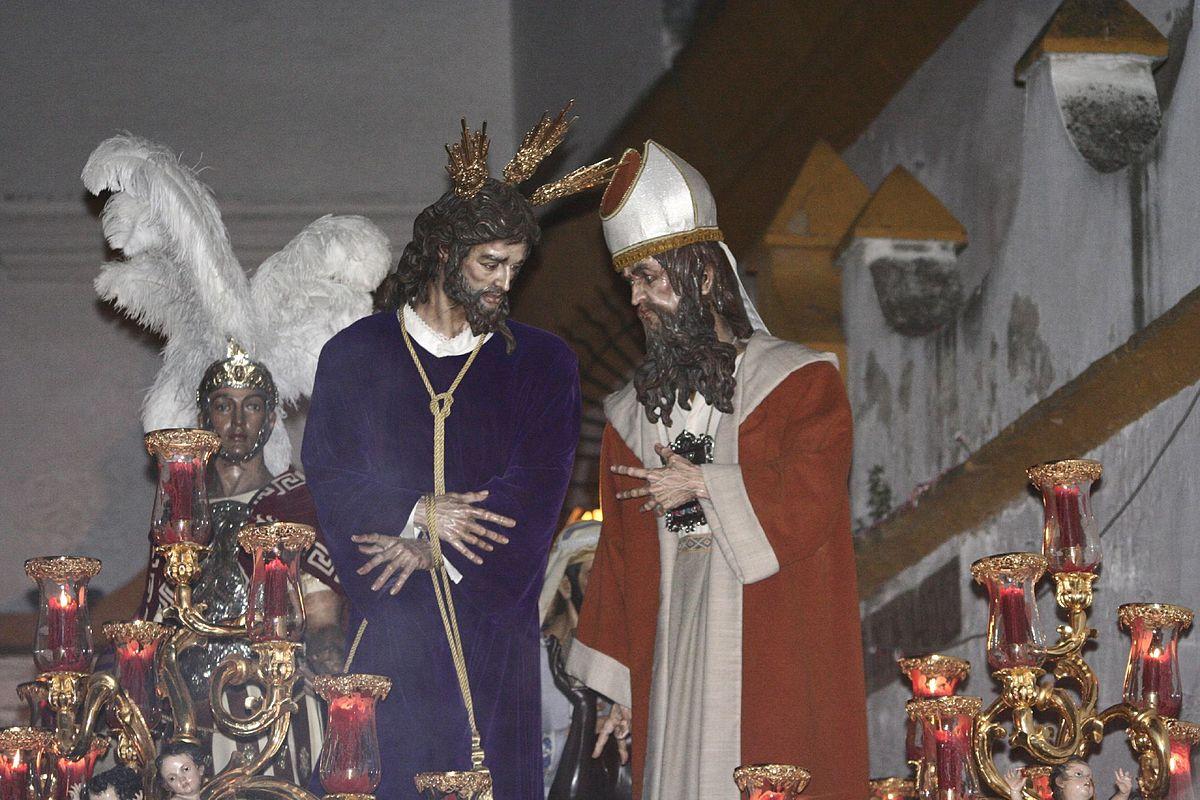 Resultado de imagen de pasos de jesus ante caifas