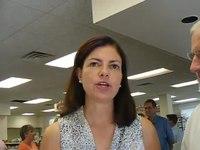 File:Sen Ayotte and Voter on Dem Convention Hollis NH 9 7 12.webm