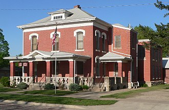 Nemaha County, Kansas - Image: Seneca, Kansas jail and sheriff residence from SW 1