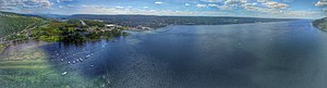 Seneca Lake (New York) - Aerial view from the southern part of Seneca Lake.
