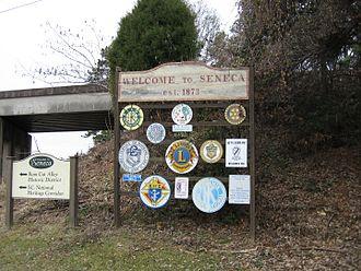 Seneca, South Carolina - Welcome sign