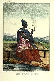 Ndeté-Yalla, Reine du Walo, en tenue royale