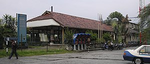 Sentul Komuter station - An exterior view of the old Sentul railway station building which is no longer in use and has been demolished.