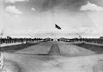 Sequoia Field Airport - View of Sequoia Field Headquarters and main formation area, 1943
