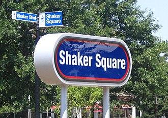 Shaker Square station - Station sign