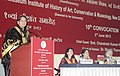 Shashi Tharoor addressing at the 10th Convocation of National Museum Institute, in New Delhi. The Union Minister for Culture, Smt. Chandresh Kumari Katoch and the Secretary Culture, Smt. Sangita Gairola are also seen.jpg
