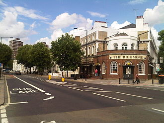 London Borough of Hammersmith and Fulham - Shepherd's Bush Road in London Borough of Hammersmith and Fulham