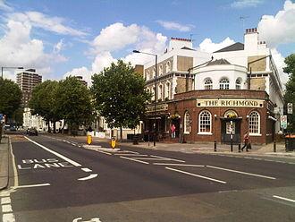 London Borough of Hammersmith and Fulham - Shepherd's Bush Road in London Borough of Hammersmith and Fulham