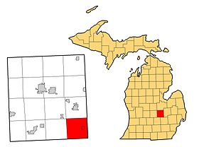 Shiawassee County, MI with Burns Township in red.jpg