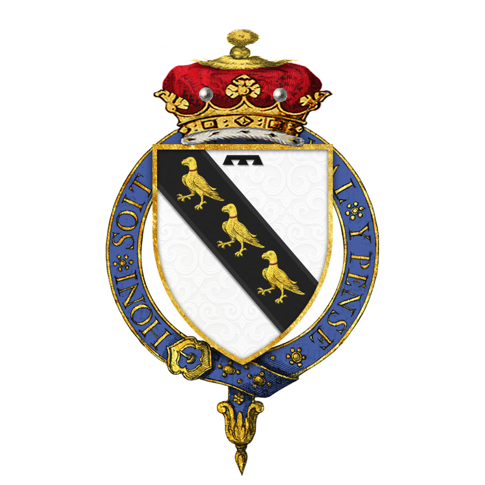 Shield of arms of George Curzon, 1st Marquess Curzon of Kedleston, KG, GCSI, GCIE, PC, FBA