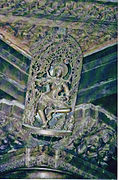 Shilabaalika on pillar bracket in Chennakeshava Temple at Belur2.jpg