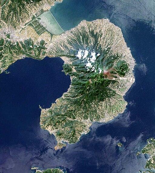 Shimabara Peninsula Japan SRTM