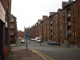 Barrow Island, Barrow-in-Furness - Tenements along Ship Street
