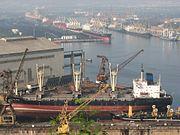 Ship building yard