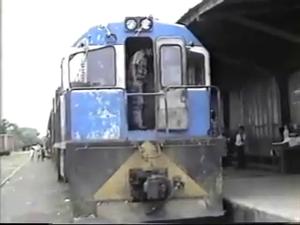 History of rail transport in Nicaragua - Diesel Locomotive General ELectric in the old Nicaragua's railway