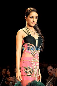 Shraddha Kapoor walks for Gitanjali collection at Lakme Fashion Week 2014.jpg