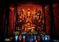 Shrine to a Tang dynasty (896 AD) stone statue of the Thousand-Armed Guanyin (千手觀音 Qianshou Guanyin) in Shengshui Temple (內江聖水寺 Neijiang Shengshui-si) in Neijiang, Sichuan, China Picture 1.jpg