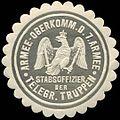 Siegelmarke Armee - Oberkommando der 7. Armee - Stabsoffizier der Telegraphen Truppen W0239464.jpg