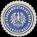 Siegelmarke Bürgermeister-Amt Wahn-Rhein Kreis Mülheim W0385239.jpg