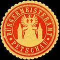 Siegelmarke Bürgermeisteramt Petschau W0317782.jpg
