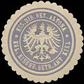 Siegelmarke Eisenbahn Direktion Bezirk Altona-Kgl. Eisenbahn Betriebs Amt Kiel W0322994.jpg