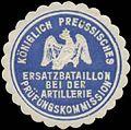 Siegelmarke K.Pr. Ersatzbataillon bei der Artillerie Prüfungskommission W0390174.jpg