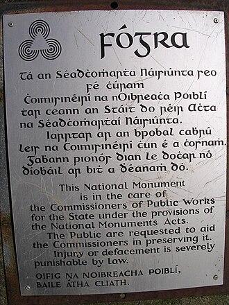 Gaelic type - Image: Sign Irish English PS01