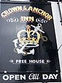 Sign for the Crown and Anchor - geograph.org.uk - 1010244.jpg