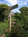 Signpost on coast path near Bigbury-on-Sea - geograph.org.uk - 1476869.jpg