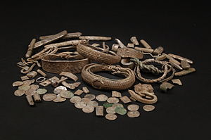 Silverdale Hoard - Selection of objects from the Silverdale Hoard