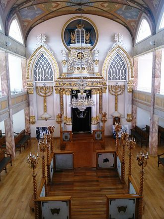 Historic Synagogue Justo Sierra 71 - Interior of the Synagogue located in the Historic Center of Mexico City.