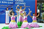 Singers and dancers perform at a kindergarten hand-over ceremony in Kon Tum. (5840035658).jpg
