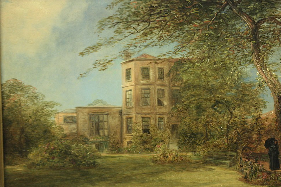 Sir David Wilkie's residence in Kensington London, by William Collins 1841 (painted just after Wilkie's death)