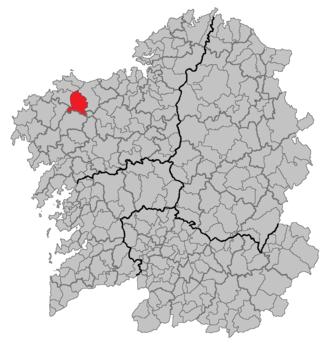Coristanco - Image: Situacion Coristanco