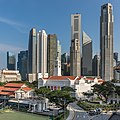 Skyline of the Central Business District with the Old Parliament House in Singapore.jpg