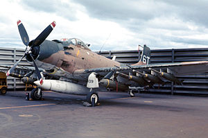 1962 South Vietnamese Independence Palace bombing - An A-1 Skyraider, similar in model to the aircraft used in the attack
