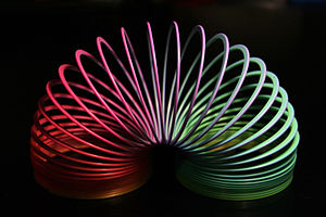 Slinky - Rainbow colored plastic Slinky toy