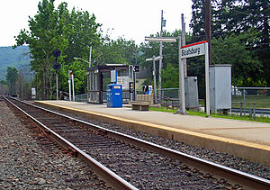Sloatsburg (Metro-North station) - View southward of the station