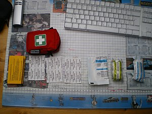 Small first aid kit.