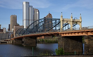 bridge over the Monongahela River in Pittsburgh, Pennsylvania