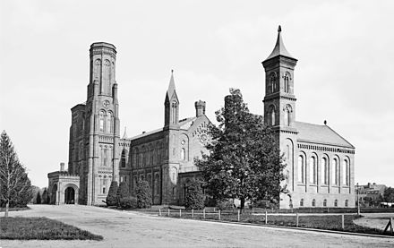 The Castle c. 1870 Smithsonian Institution Castle.jpg