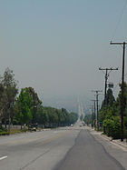 Smoggy haze in the Inland Empire.JPG