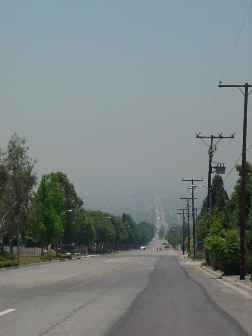 Smoggy haze in the Inland Empire