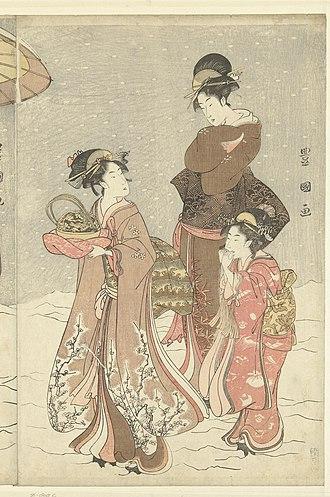 Utagawa Toyokuni II - Image: Sneeuwbal Rijksmuseum RP P 1956 805C