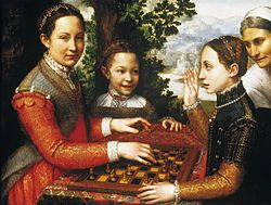 Sofonisba Anguissola: Portrait of the Artist's Sisters Playing Chess