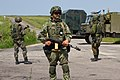 Soldiers from the Ukrainian National Guard's 3029th Regiment conduct checkpoint operations.jpg