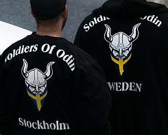 Soldiers of Odin - People wearing shirts with Soldiers of Odin logo