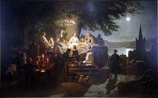 Sommernacht am Rhein