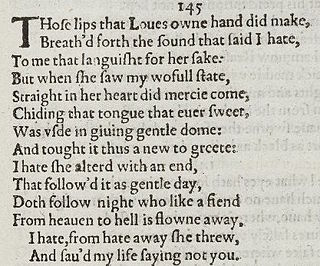 Sonnet 145 poem by William Shakespeare