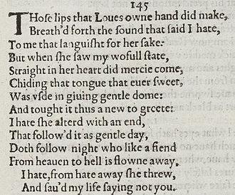 Sonnet 145 - Image: Sonnet 145 1609